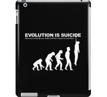Evolution Is Suicide Funny iPad Case/Skin