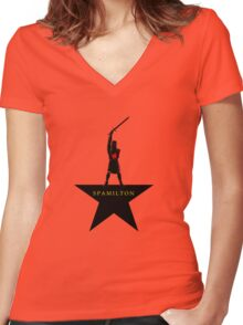 Spamilton Women's Fitted V-Neck T-Shirt
