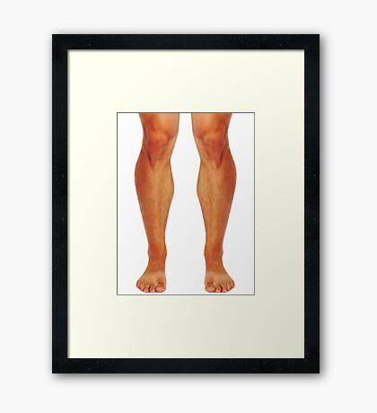Muscular male legs Framed Print