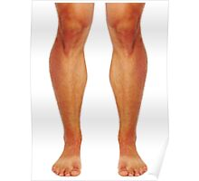 Muscular male legs Poster
