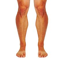 Muscular male legs Photographic Print