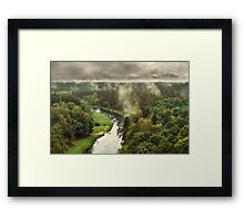 Smoke on the forest Framed Print