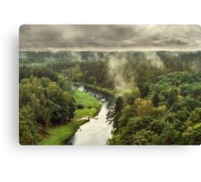 Smoke on the forest Canvas Print