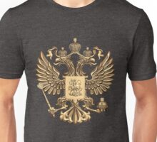 Gold Russian Coat of Arms Unisex T-Shirt
