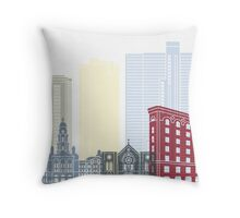 Fort Worth skyline poster Throw Pillow