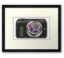EARTH CAMERA Framed Print