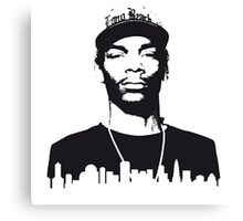 Snoop dog in the city Canvas Print