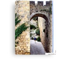 OBIDOS PORTUGAL WALLED CITY Canvas Print