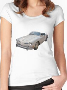 Vintage German Sports Car Women's Fitted Scoop T-Shirt
