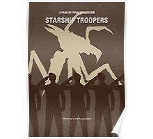 No424 My Starship Troopers minimal movie poster Poster