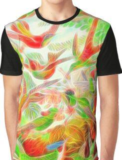 Plants & Animals, humming bird, rainforest, hummingbirds, psychedelic, art, illustration, haeckel,  Graphic T-Shirt