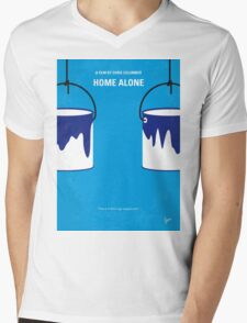 No427 My Home alone minimal movie poster Mens V-Neck T-Shirt