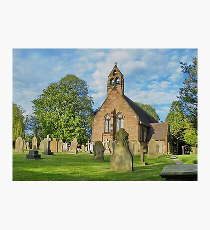 Church in Cheshire, England Photographic Print