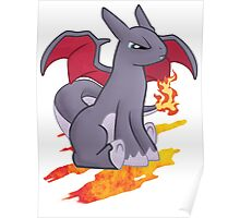 Pocket Shiny Charizard Pony Poster