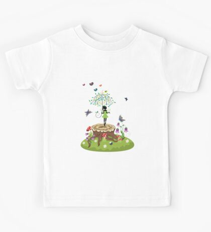 Tree Stump and Fairy 2 Kids Tee