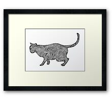 Cat Line Art 1 Framed Print