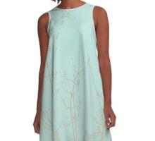 Choco Mint Jasmine A-Line Dress