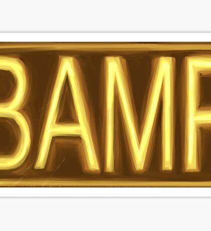B A M F Sticker