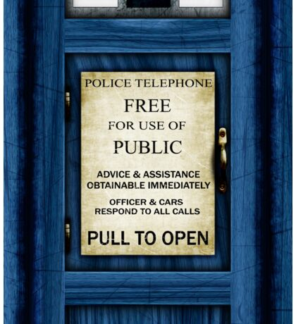 Free For Use Of Public - Tardis Door Sign - New Crop (please see description) Sticker