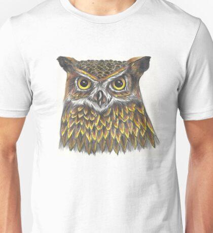 Long-eared owl inspired Unisex T-Shirt