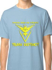 Team Instinct Through Speed And Strength Pokemon Go Merchandise Classic T-Shirt