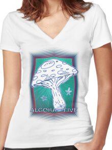 AlgoraFive.04 Women's Fitted V-Neck T-Shirt