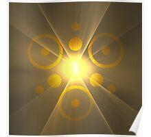 Eye of RA Suncave Logo || GodSol.com Poster