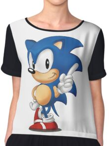 sonic the hedgehog Chiffon Top