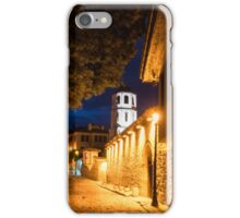 Of Cobblestone Streets and Bell Towers - Yellow Lit Night in Old Town Plovdiv, Bulgaria iPhone Case/Skin