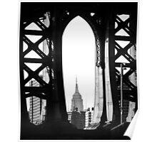 Empire State Building under the Manhattan Bridge Poster