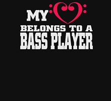 My belongs to a bass player - T-shirts & Hoodies Womens Fitted T-Shirt