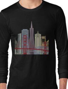 San Francisco skyline poster Long Sleeve T-Shirt