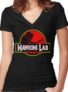Hawkins Lab Women's Fitted V-Neck T-Shirt