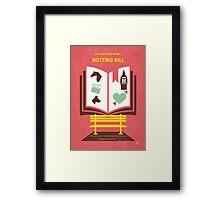 No434 My Notting Hill minimal movie poster Framed Print
