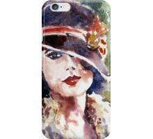 portrait a lady in a hat iPhone Case/Skin