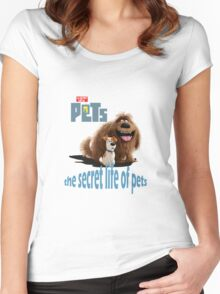 the secret life of pets movie Women's Fitted Scoop T-Shirt