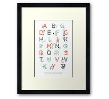Animal Alphabet Framed Print