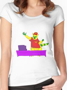 Lemur in mcdonalds Women's Fitted Scoop T-Shirt