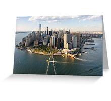 Aerial Manhattan Skyline Greeting Card