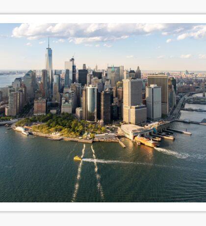 Aerial Manhattan Skyline Sticker