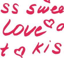 Love lettering seamless red pattern, hand drawn calligraphy wallpaper. Sticker