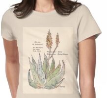Aloe vera (A. barbadensis) Botanical Womens Fitted T-Shirt