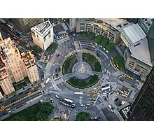 Aerial Columbus Circle Photographic Print