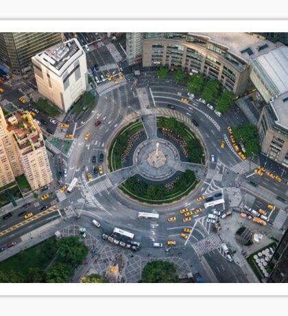 Aerial Columbus Circle Sticker