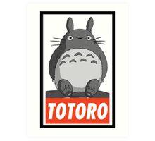 (MANGA) Totoro  Art Print