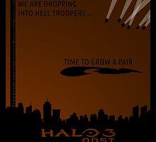 Minimalist Halo 3 ODST Poster by Jordan Garvey