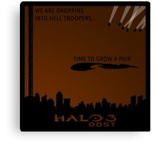 Minimalist Halo 3 ODST Poster Canvas Print