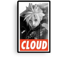 (FINAL FANTASY) Cloud Canvas Print