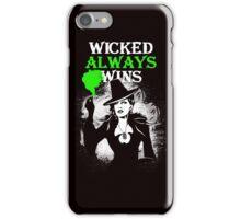 OUAT. Wicked Always Wins. Zelena. V2. iPhone Case/Skin