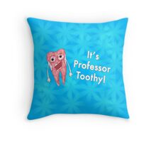 Professor toothy Throw Pillow